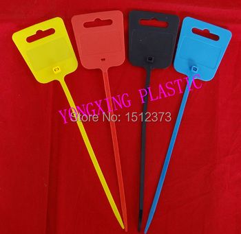20pcs/bag marker cable tie 5*250 self-locking nylon66 94V-2 Zip tie black red yellow blue 4 color