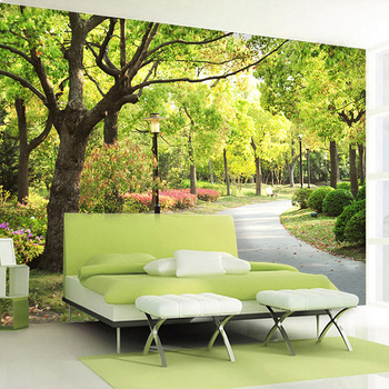 Three-dimensional large mural 3D living room sofa bedroom kitchen TV background wallpaper custom wallpaper forest