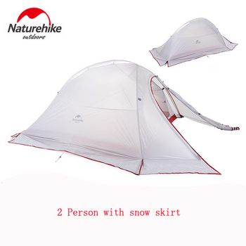 NH 2person double layers four-season rainproof waterproof camping outdoor tent with a snow skirt
