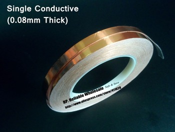 0.08mm thick) 100mm*30M Single Side Adhension Conductive Copper Foil EMI Masking Tape fit for PDA, Transformer