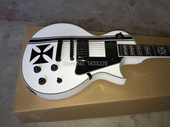 Vicers  Custom Iron Cross SW James Hetfield Signature Electric Guitar EMG Snow Whit