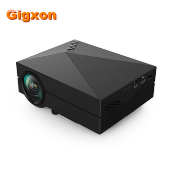 Gigxon - G60 Newest GM50 Upgrade GM60 MINI Projector For Video Games TV Home Theatre Movie Support HDMI VGA AV SD