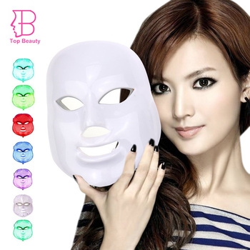 TOP BEAUTY PDT LED Light Therapy Facial Mask Photon Wrinkle Removal Face Skin Rejuvenation Beauty Spa Device 7 Colors
