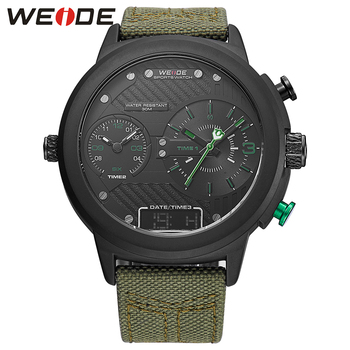 WEIDE Brand Wristwatch Quartz Watches Multiple Time Zone 3ATM Water Resistant Chronograph Valentine's Gift For Men