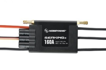 F18585 Hobbywing SeaKing Pro V3 160A Waterproof 2-6S Lipo 4A BEC Speed Controller Brushless ESC for RC Racing Boat