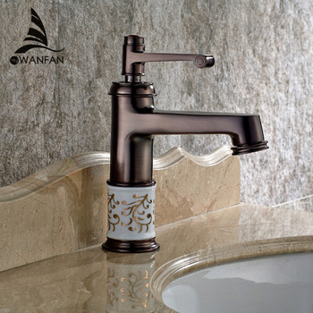 New Tap Euro Vintage Style Basin Sink Faucet Oil Rubbed Bronze Red Bathroon Faucet Mixer Tap Deck mounted SM-99601
