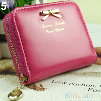 Hot Fashion Women's Mini Faux Leather Lady Purse Wallet Card Holders Handbag coin bag 02U6 4ON7