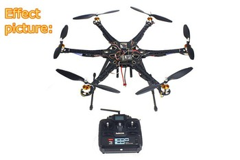 F08618-B HMF S550 F550 Hexacopter 6-Axis Frame Kit with Landing Gear +ESC Motor Welded+QQ SUPER Control Board+RX&TX+Propellers