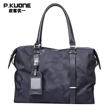 P.KUONE Brand Camouflage Fashion Travel Bag Men Big Totes Luggage Large Hand Bag Large Capacity Men's Casual Travel Bags Package