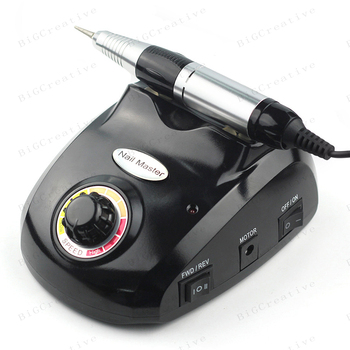 30000 RPM Nail Art Drill Pro Electric Black Diamond Nail art Drill File Machine Maniure and Pedicure Drill Polish for Gel Polish
