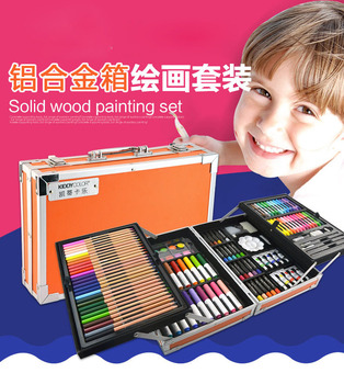 VIVCOR Art set for Kids 133 Piecs Painting Set for Sketching and Drawing with Solid Wood Case Drawing Tool Childing Drawing