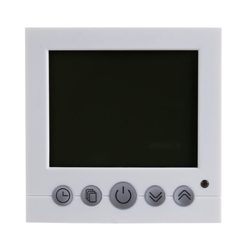 Floor Heating Thermostat Room Weekly Program Heating Warm Temperature Controller Auto Control Large LCD Display with Backlight