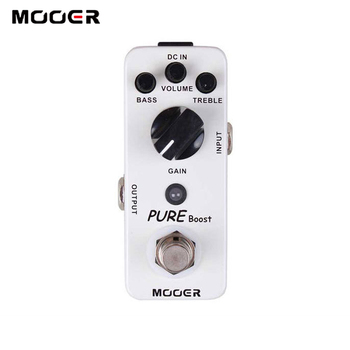 MOOER Pure Boost Guitar Pedal with above 20db Clean Boost with about 15db 2 Band EQ