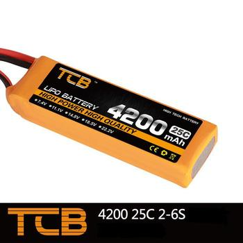 TCB RC lipo battery 22.2v 4200mAh 25C 6s RC airplane battery factory-outlet goods of consistent quality