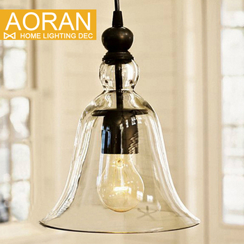 Modern Bell Shape Glass Bell Pendant Light Glass Material Hanging Lamp Edison Vintage Lamp Decor For Dining Room Home Lighting