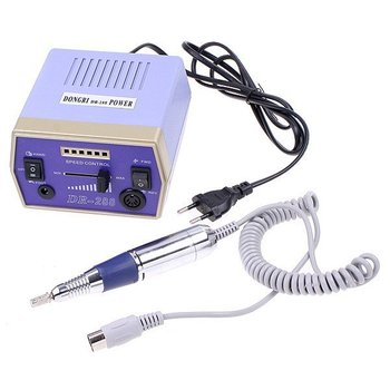 Electric Nail Manicure Set Drill Pedicure Glazing Machine 6 Bits 4000-20000 RPM 110-120V 50Hz 10W, With Foot Pedal
