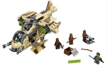569pcs 10377 STAR WARS Wookiee Gunship Building Blocks Chewbacca Figures kids Educational Bricks Toys Compatible with Lepin