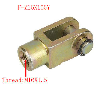 2 pcs Y Joint M16x1.5mm Female to Male Thread Pneumatic Cylinder Piston Clevis,F-M16X150Y