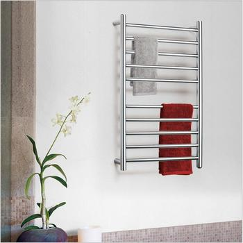 8 BAR Square Electric heated towel rail Stainless Steel Towel Rack Heater