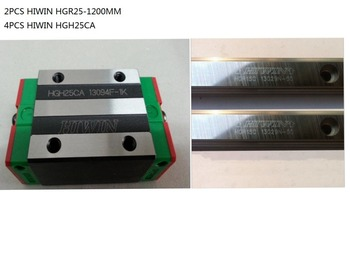 2pcs original Hiwin linear rail HGR25-1200mm and 4pcs HGH25CA narrow blocks for cnc