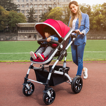 40cm Widen Seat Soft Baby Stroller Can Sit Lying Shockproof Baby Car Portable Folding Baby Prams for Newborns