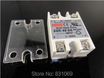 10Pieces/Lot Solid State Relay SSR-40DA 40A /250V 3-32VDC/24-380VAC Brand New