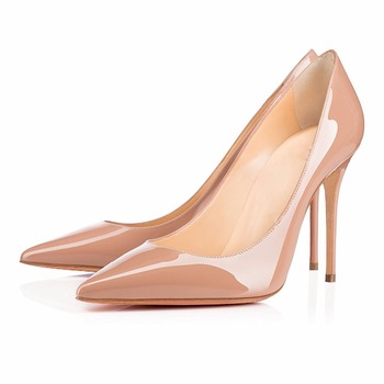 Women's Handmade Pointed Toe High Heel Pumps Closed Toe 10cm Stiletto Heels Party Prom Evening Wedding Dress Shoes Plus Size