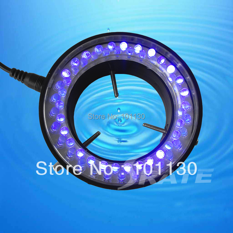 Purple Light Circular Fluorescent Lamps 60 LED Ring Lamp fo Stereo Biological Zoom Microscope Parts with Adapter 220V or 110V
