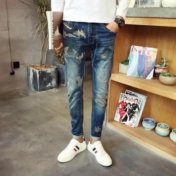 ZEESHAN Plus Size 40 Men Jeans Size 42 Casual Straight Business Male Brand Autumn Casual Denim Pant in Men's Jeans