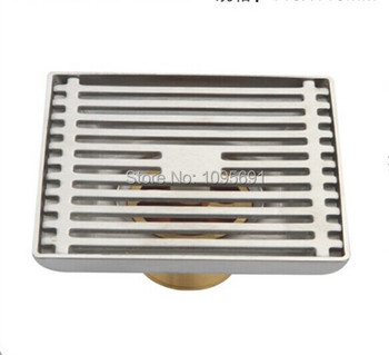 Perfect design Deodorant 100mm*100mm*45mm 304 Stainless steel Wire drawing floor drain--SZ6807-50B