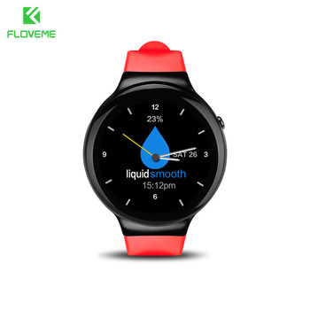 FLOVEME Smart Watch Android 5.1 OS Wrist Watch Bluetooth MTK6580 1.3 Quad-core AMOLED Display 3G SIM Card 1G+16G Wifi Smartwatch