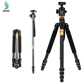 QZSD Q999C Carbon Fiber Tripod Pro Tripod Ball Head Monopod Portable Detachable Changeable Traveling for DSLR Camera Camcorder