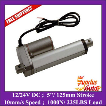 Factory sales ! 12v DC electric linear actuator 125mm stroke -1000n=100kgs=225lbs -1PC