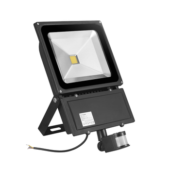 2 PCS GERUITE 100W LED Sensor Flood Light 7000LM AC 85-265V IP65 Outdoor Induction Lighting Sensor Floodlight LED Lamp