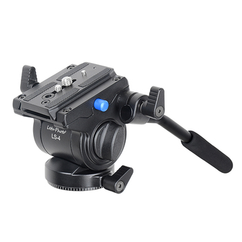 XILETU Video Camera Fluid Drag Tripod Head with Quick Release & Handle Grip for DSLR Canon Nikon Sony Camera Camcorder