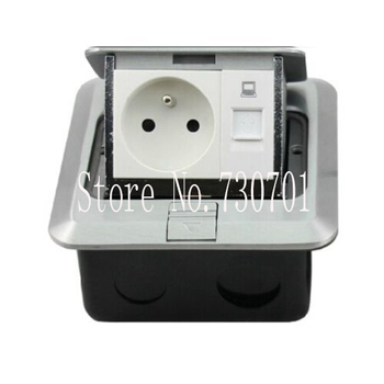 Multipurpose EU Floor Box Socket with RJ45/Network/tv/two pin/blank/RJ11/phone for architectural inside design