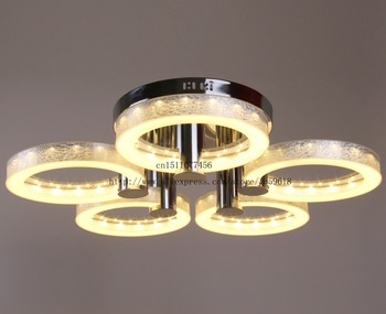 Hot Selling Modern LED Acrylic Chandelier with 5 lights (Chrome Finish) AC90-245V