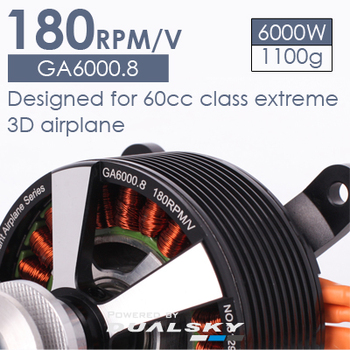 GA6000.8 fixed wing aircraft model brushless motor 50cc-60cc gasoline engine 6000W high-power motor