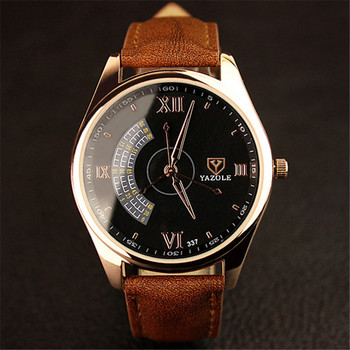 Watches Men Luxury Brand YAZOLE Fashion Blue Glass Unisex Quartz Watch Women Business Casual Wrist Watch Relogio Masculino C37