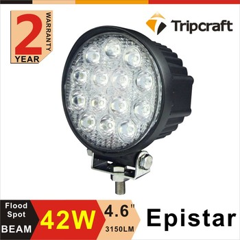 Tripcraft ping! 2pcs 4 Inch 42W LED Work Light Bar for Offroad Truck Heavy Duty Ruck Boat Ute car SUV ATV 4WD 12V 24V