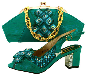 2017 Spring Design African Designer Shoe And Bag Set To Match Peach Italian Shoes With Matching Bag Set MM1025