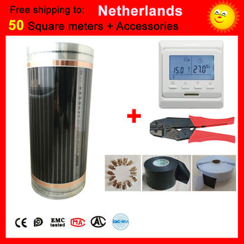 Netherlands 50 Square meter electric Heating film With accessories, AC220V+-10V far underfloor heating film