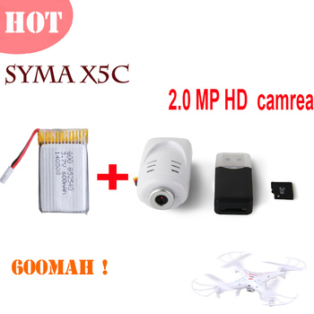 Est 2.0MP HD camera + 1*650MAH li-po battery SYMA X5 / X5C / X5C-1 new original battery quadrocopter RC Helicopter Parts