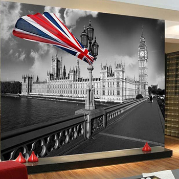 3D Wallpaper Roll Custom Mural Non-woven Tower Of London Big Ben City Street Landscape Painting Photo 3D Wall Murals Wall Paper