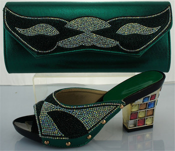By DHL,2016 Italian style shoes and bags sets to match for african women shoes,ME2217 green color size 38-42.
