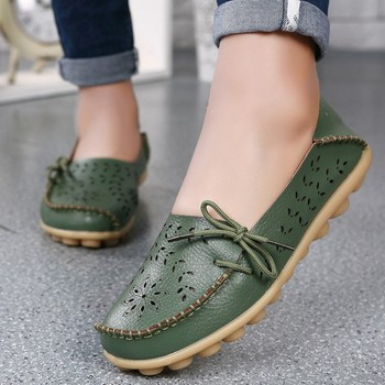 15 Colors Spring Women Genuine Leather Flat Gommino Moccasin Loafers Casual Ladies Slip On Cow Driving Fashion Ballet Boat Shoes