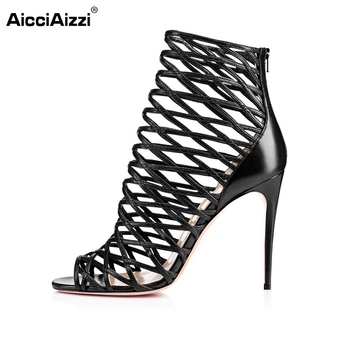 Fashion Star Supermode Sexy Stiletto Gladiator Cut-outs High Heels Sandals Women's Slimmer Heel Party Shoes Size 35-46 B016