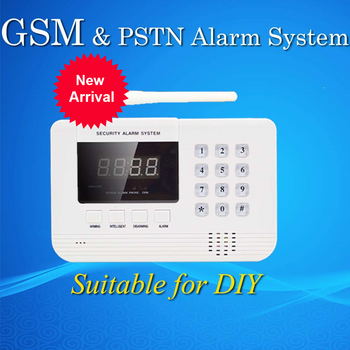 Hot Selling  wholesale Wireless PSTN GSM Alarm System 433MHz For DIY
