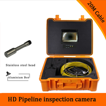 1 set) 20M Cable industry Endoscope Camera HD 1100TVL line 7 inch TFT-LCD Screen Sewer Pipe Inspection Camera System version