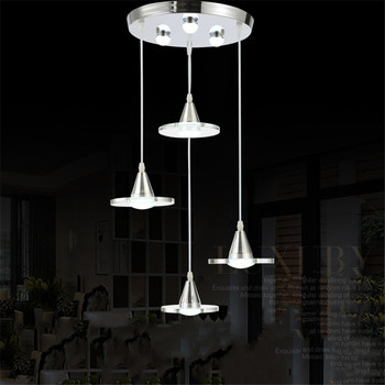 Modern LED Pendant Lamp Minimalist Dining Room Bedroom Study Pendant Lights Personalized Cafe Bar Crystal Glass Hanging Light